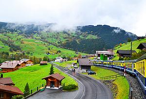 雪山田园小镇,慢游童话瑞士