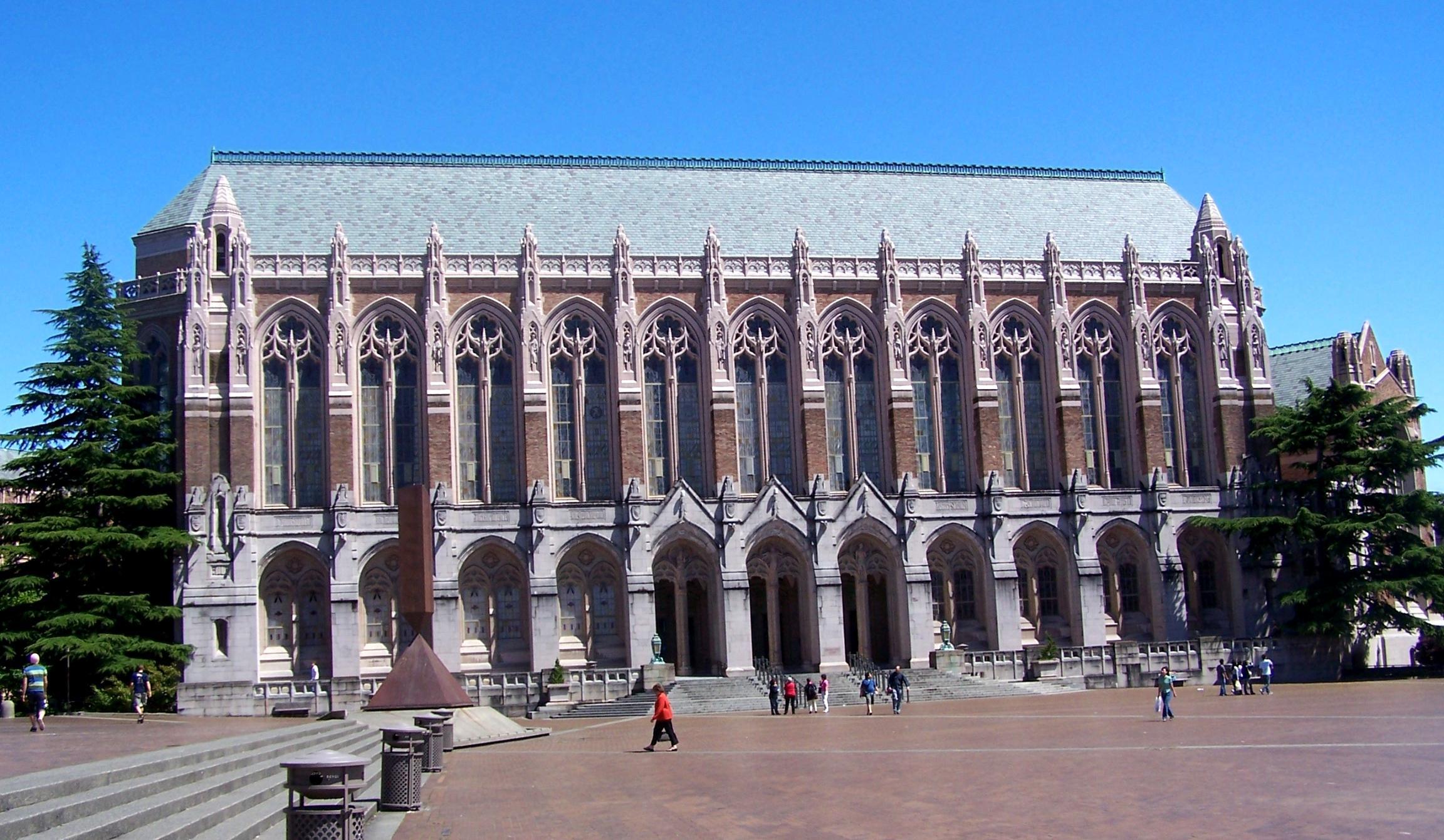 华盛顿大学西雅图_西雅图华盛顿大学Suzzallo and Allen图书馆攻略,西雅图华盛顿大学 ...