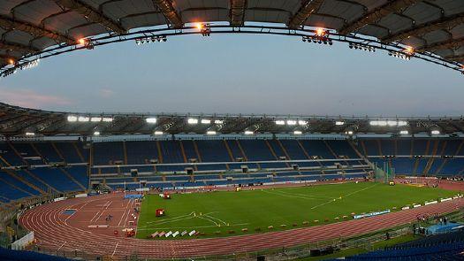 在罗马奥林匹克球场看一场意甲比赛