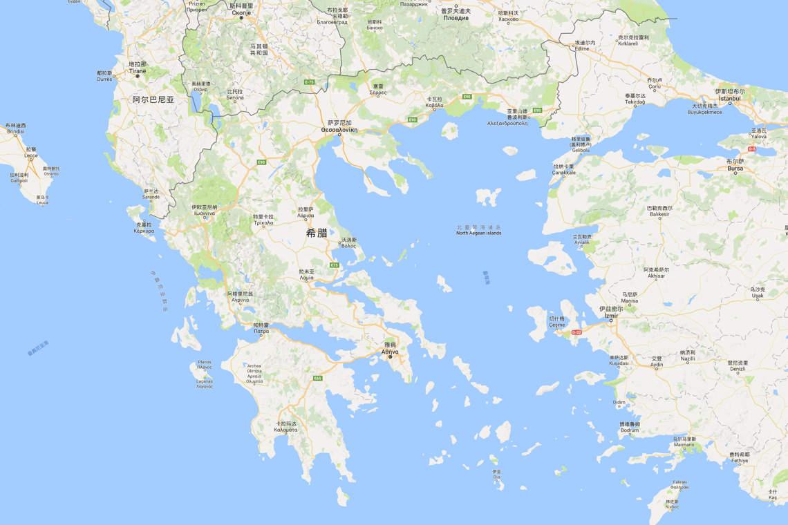 2017希腊地图