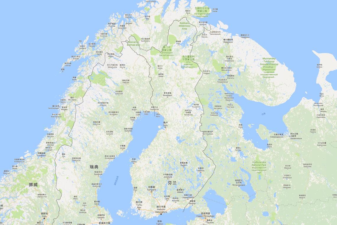2017芬兰地图