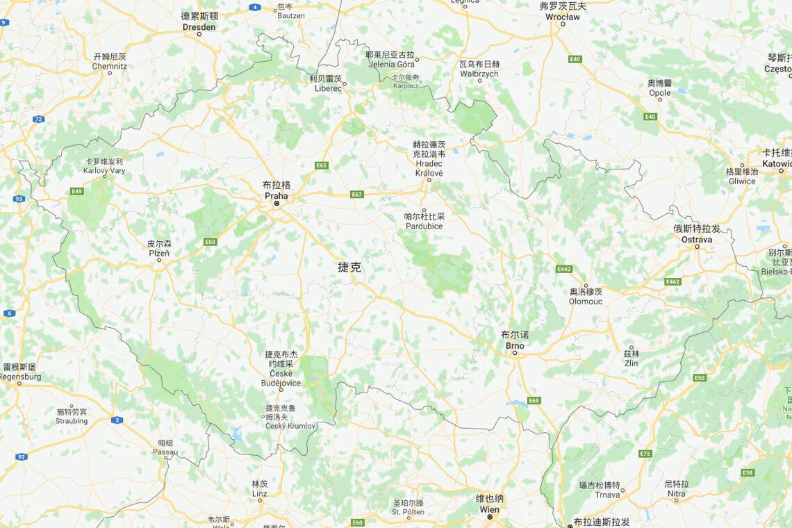 2017捷克地图