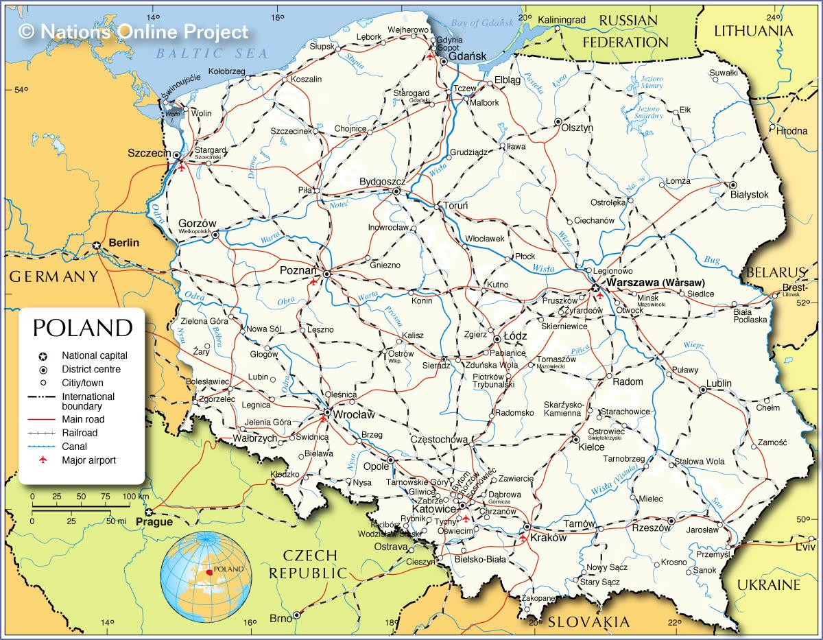 2017波兰地图