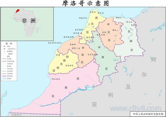 2017摩洛哥地图