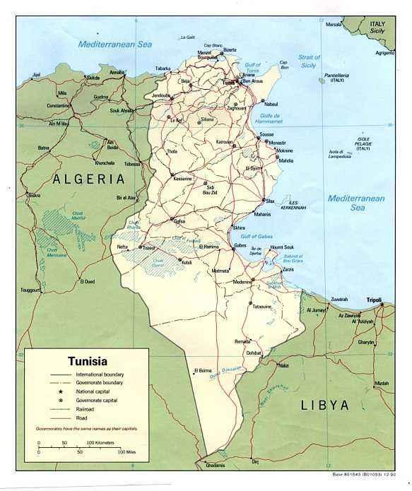 2017突尼斯地图