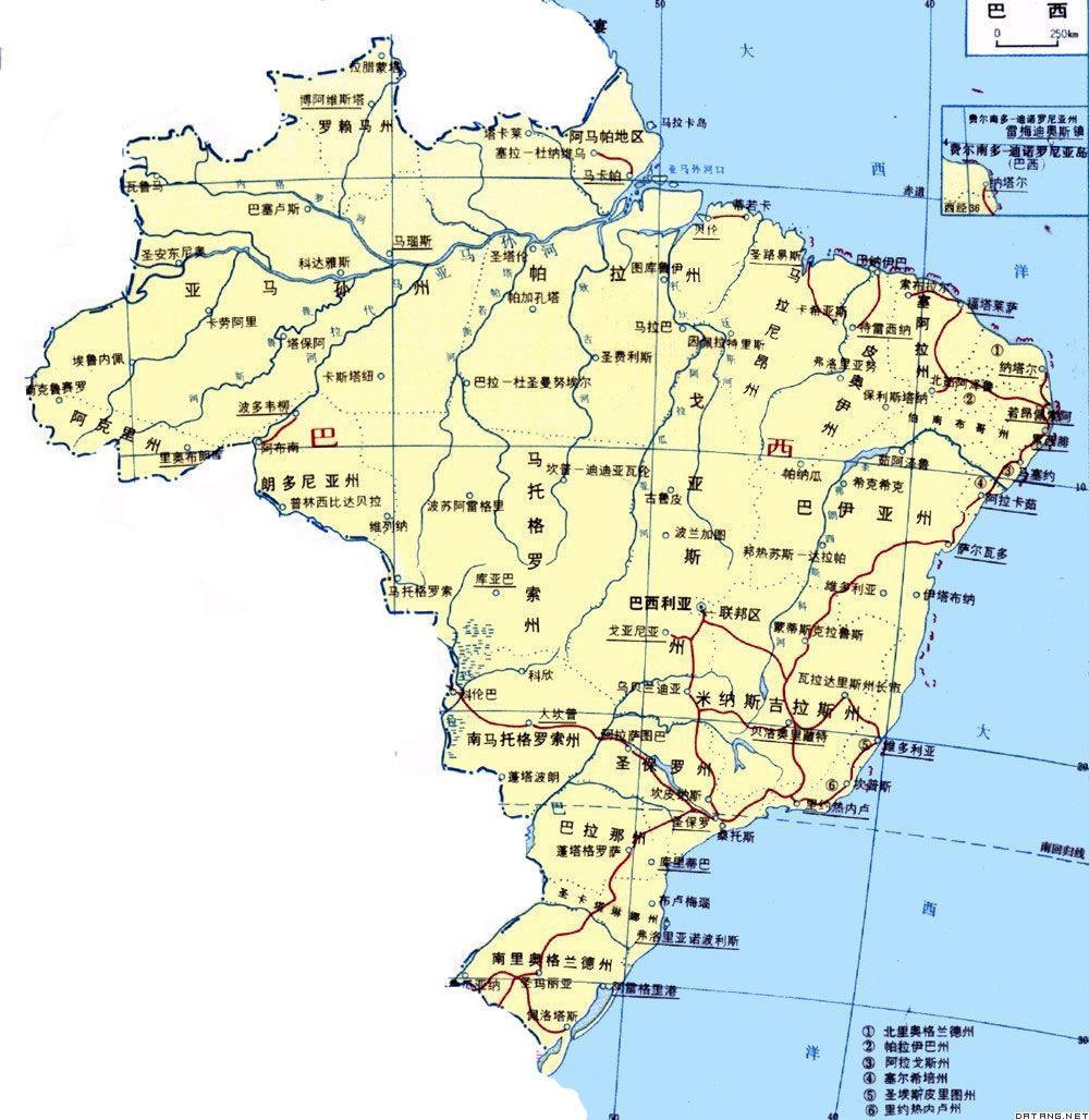 2017巴西地图