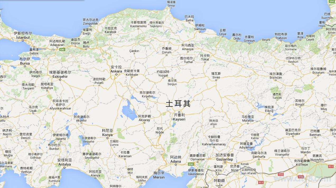 2017土耳其地图