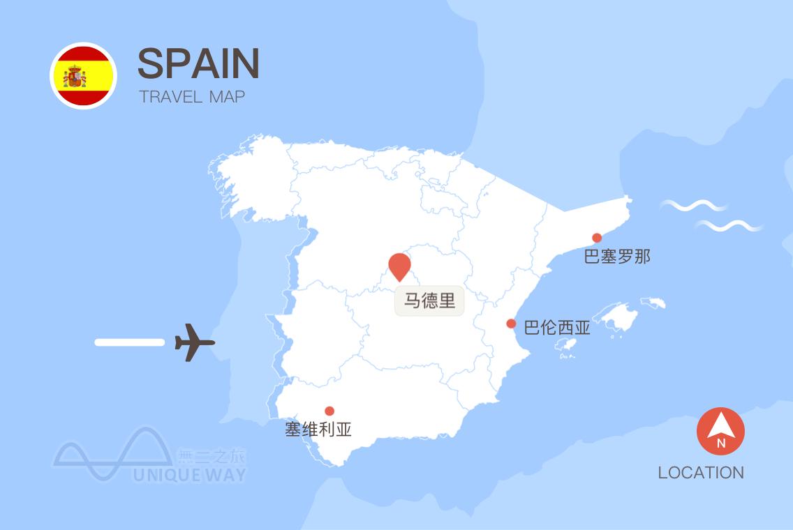 2017西班牙地图
